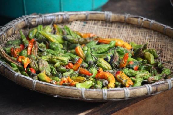 Die Chili fungiert in der bhutanesischen Küche nicht als Gewürz, sondern als Gemüse.