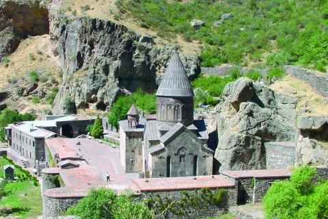 Das Kloster Geghard in Armenien