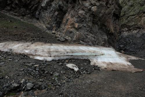 Vergletschertes Eis in der Geierschlucht