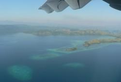 Schon der Ausblick beim Anflug auf die Inselgruppe ist atemberaubend