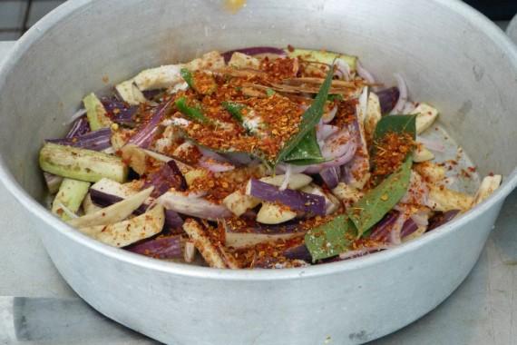 Das Auberginencurry vorm Kochen