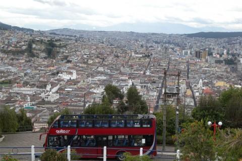 Die ecuadorianische Hauptstadt Quito