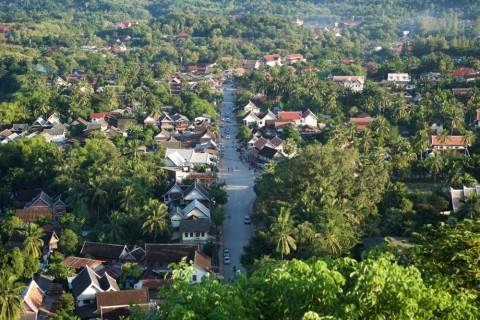 Luang Prabang von oben: Die Königsstadt gilt als eine der schönsten Städte in Südosastien.