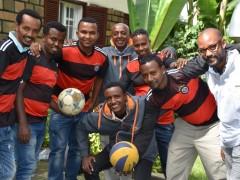 """Unser Team im """"grenzenlosen"""" Fußballfieber"""