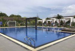 Blick auf den Pool unseres Gruppenhotels