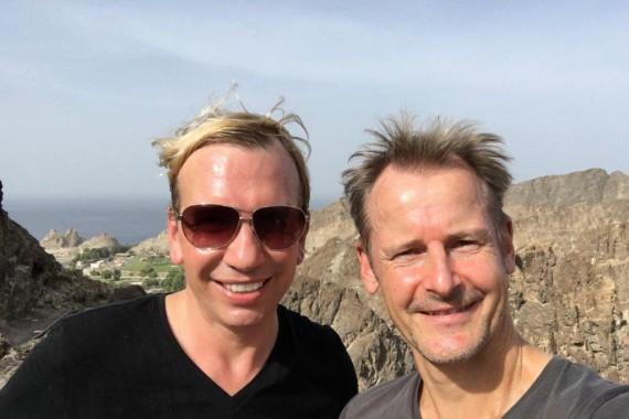 Chris und Otfried auf dem Muttrah Pfad