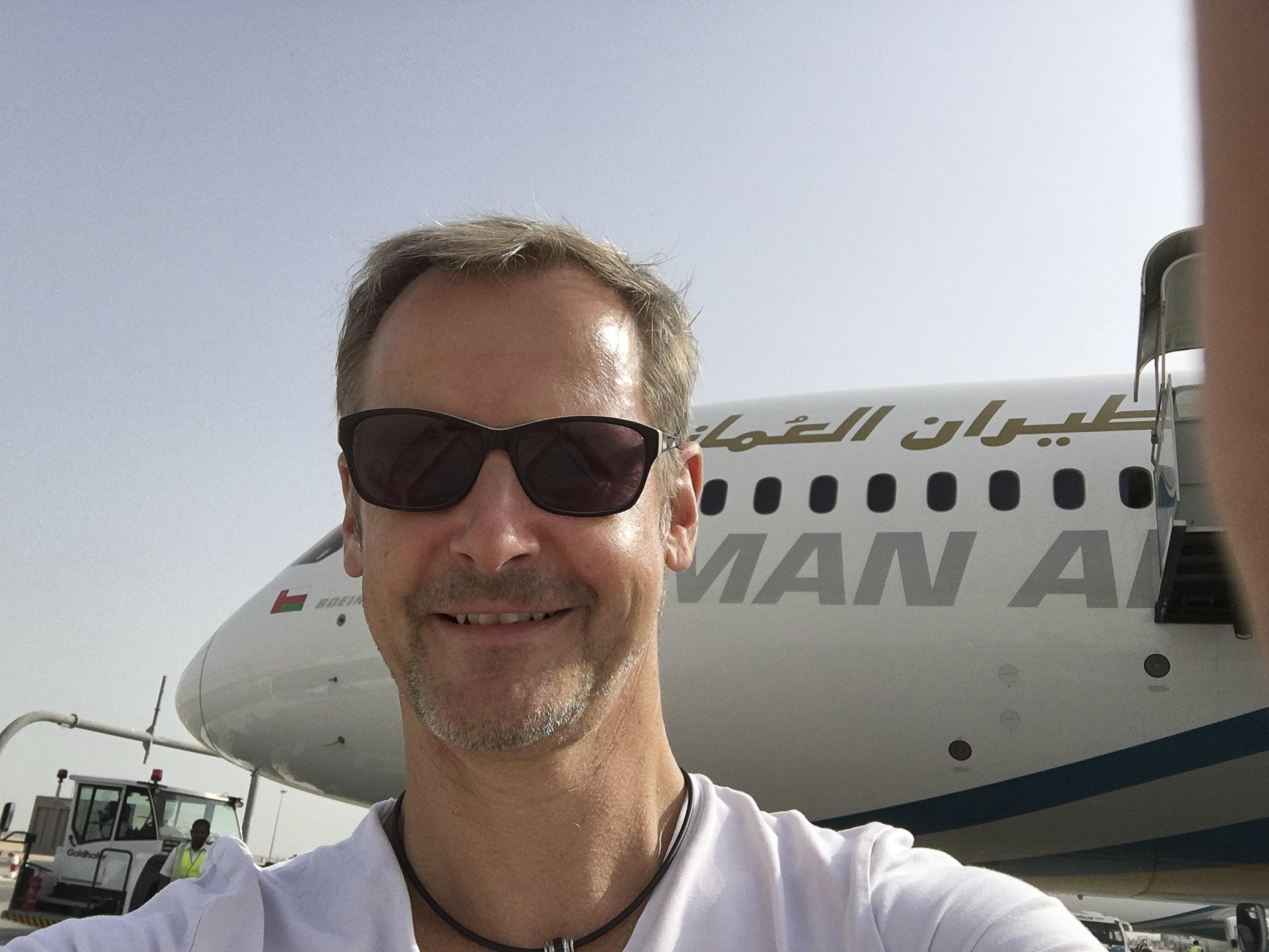 Im Dreamliner von Muscat nach Bangkok