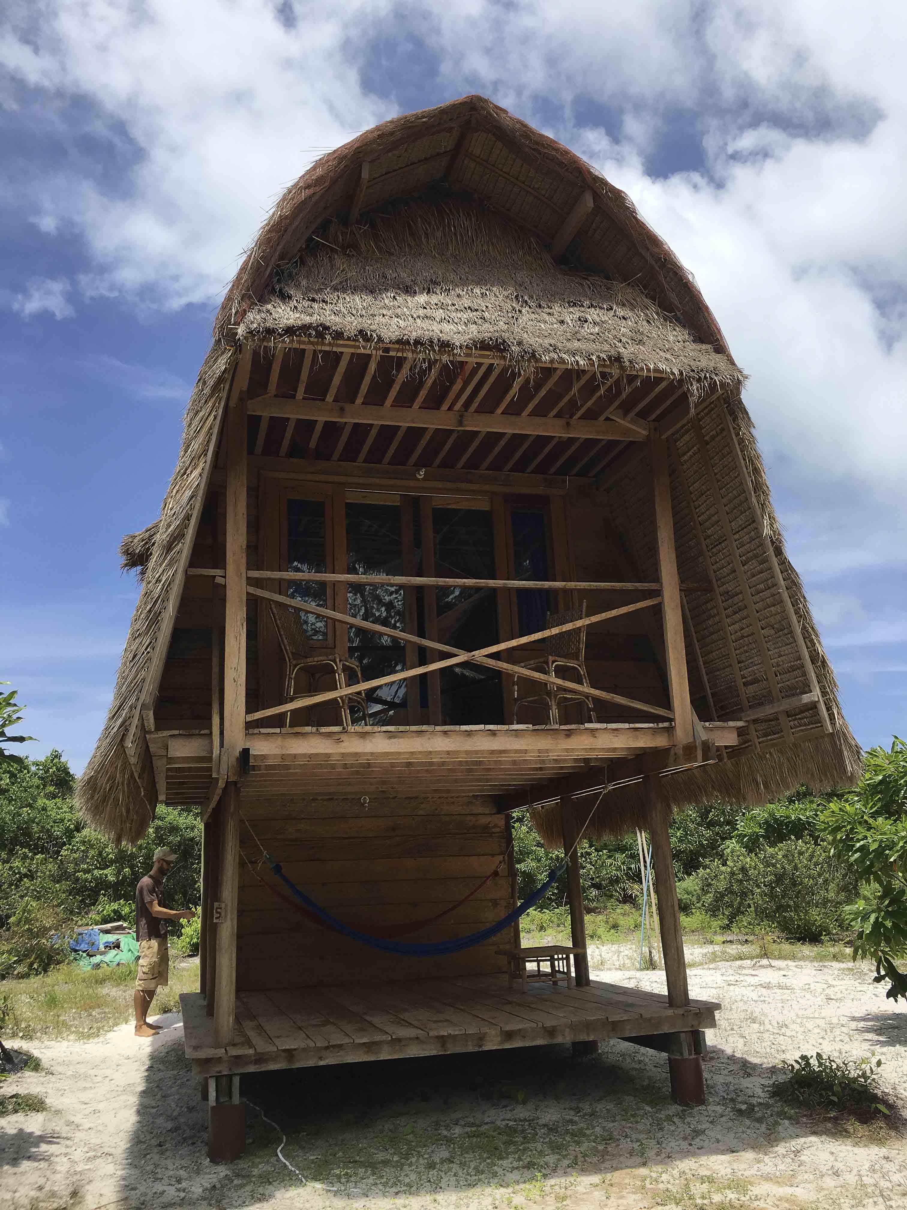 Robinson-Feeling - manche Unterkunft auf der Insel