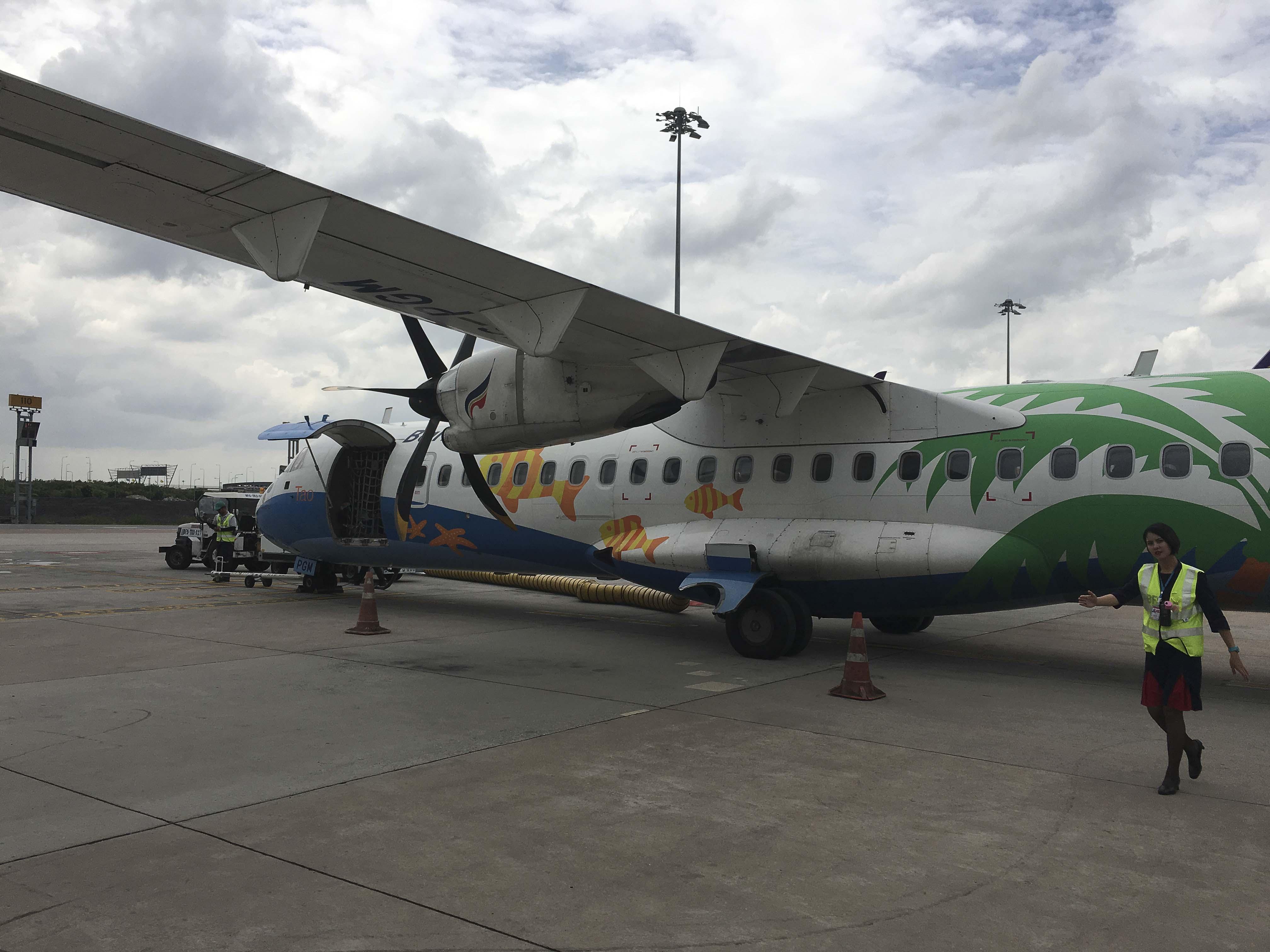 Zuverlässig und robust - mit der guten alten ATR gehts weiter nach Luang Prabang