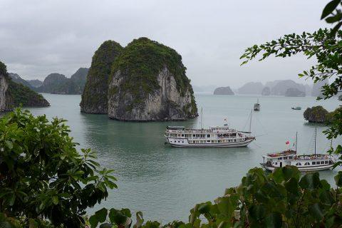Die Halong-Bucht im Norden von Vietnam