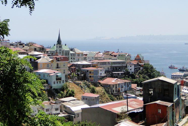 Aussicht auf Valparaíso