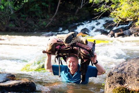 Dieter Schonlau im Fluss