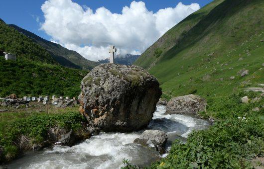 Kleines Land im Kaukasus